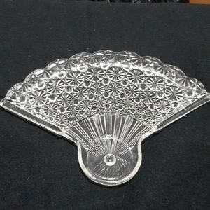 Fan Glass Trinket / Jewelry Tray